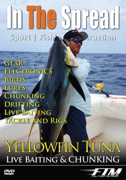 chunking live baiting yellowfin tuna in the spread fishing videos